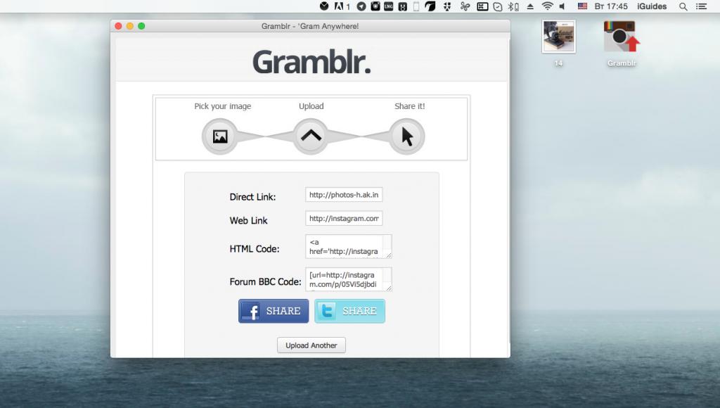 Gramblr для загрузки фото в Инстаграм с компьютера