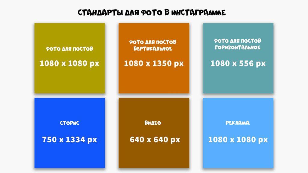 примеры стандартов для фото в инстаграм